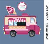 food truck ice cream | Shutterstock .eps vector #792011224
