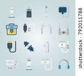 icon set about connectors... | Shutterstock .eps vector #792011788