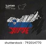 slovenia national vector map... | Shutterstock .eps vector #792014770