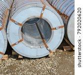 rolled steel sheet in rolls   Shutterstock . vector #792020620