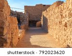 ruins of masada fort  ancient...   Shutterstock . vector #792023620