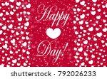 hearts design background.... | Shutterstock .eps vector #792026233
