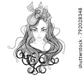 line art. vector illustration... | Shutterstock .eps vector #792028348