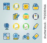 icon set about education and... | Shutterstock .eps vector #792030466