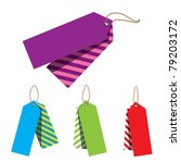 doubled price tags with stripes ... | Shutterstock .eps vector #79203172