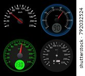 speedometers. sport black... | Shutterstock .eps vector #792032524