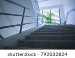 the cement stair through the... | Shutterstock . vector #792032824