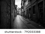 narrow back alley in the old... | Shutterstock . vector #792033388