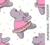 hand drawn seamless pattern... | Shutterstock .eps vector #792033559