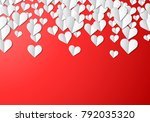 valentines day card with... | Shutterstock . vector #792035320