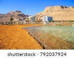 panorama of ein bokek with...   Shutterstock . vector #792037924