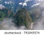 landscape in machu picchu  peru | Shutterstock . vector #792045574