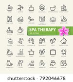 spa therapy massage cosmetics... | Shutterstock .eps vector #792046678