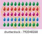 repetitive decorative... | Shutterstock .eps vector #792048268