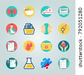 icon set about medical. with... | Shutterstock .eps vector #792051280