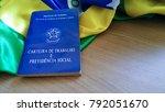 brazilian document work and... | Shutterstock . vector #792051670