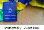 brazilian labor portfolio and... | Shutterstock . vector #792051808