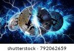 gold bitcoin coin. bitcoin... | Shutterstock . vector #792062659