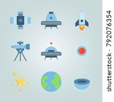 icon set about universe. with... | Shutterstock .eps vector #792076354