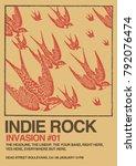 indie rock poster flyer template | Shutterstock .eps vector #792076474