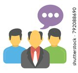 a person with speech bubbles... | Shutterstock .eps vector #792088690