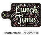 food poster print lettering.... | Shutterstock .eps vector #792090748