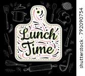 food poster print lettering.... | Shutterstock .eps vector #792090754