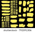 collection of hand drawn golden ... | Shutterstock .eps vector #792091306