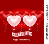 valentine's day greeting card...   Shutterstock . vector #792091666
