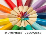 A Group Of Colored Pencils...