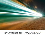 long time of light  striped... | Shutterstock . vector #792093730