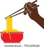 icon of noodle | Shutterstock .eps vector #792109630