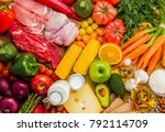 different types of food from... | Shutterstock . vector #792114709