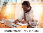 joyful mood. young office... | Shutterstock . vector #792114883