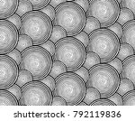 seamless round engraving pattern | Shutterstock .eps vector #792119836