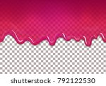 seamless dripping sweet... | Shutterstock .eps vector #792122530