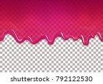 seamless dripping sweet... | Shutterstock .eps vector #792122530