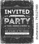 vintage invitation sign on... | Shutterstock .eps vector #792127480