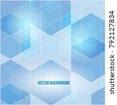 blue grid mosaic background ... | Shutterstock .eps vector #792127834