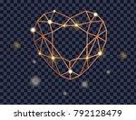 trending polygonal heart frames ... | Shutterstock .eps vector #792128479