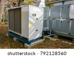 commercial air handling unit... | Shutterstock . vector #792128560