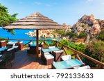 street cafe in capo testa ... | Shutterstock . vector #792133633