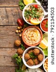 selection of lebanese food | Shutterstock . vector #792134503