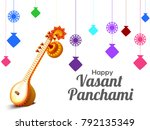 illustration of happy vasant... | Shutterstock .eps vector #792135349