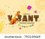 illustration of happy vasant... | Shutterstock .eps vector #792139669