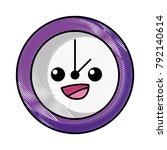 grated happy circle clock... | Shutterstock .eps vector #792140614