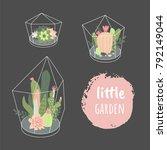 Little Garden. Vector Set With...