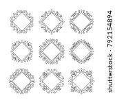 vector set of abstract... | Shutterstock .eps vector #792154894