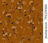 vintage seamless pattern wind... | Shutterstock .eps vector #792159583