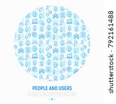 people and users concept in... | Shutterstock .eps vector #792161488